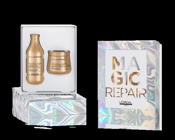 L'Oreal Serie Expert Absolut Repair Maske + GRATIS Shampoo Geschenkset