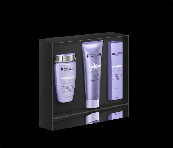 KÉRASTASE Geschenkset Blond Absolu, Premium Coffret mit 3 Bestsellern